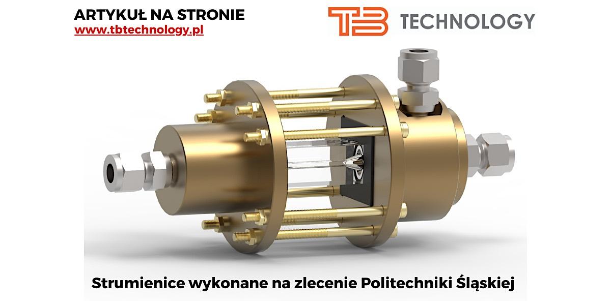 Read more about the article Realizacja projektu strumienic przepływowych na zlecenie Politechniki Śląskiej.